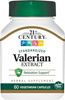 21st Century Valerian Extract Veg Capsules, 60 Count