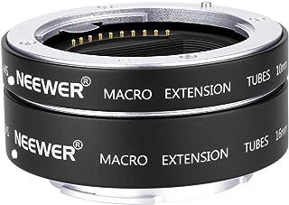 Neewer Tubo Extensión Macro Enfoque Automático AF Metal Set 10mm 16mm para Sony NEX E-Mount Camara como a9 a7 a7II a7III a7RIII a7RII a7SII a6000 a6300 a6500