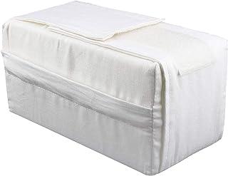 Yosoo Almohada de algodón para piernas y rodillas (20 x 11 x 11 cm), color blanco