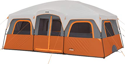 CORE 12 Person Extra Large Straight Wall Cabin Tent - 16' x 11'