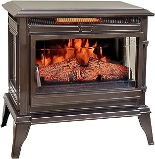 Comfort Smart Jackson Infrared Electric Fireplace Stove Heater, Bronze - CS-25IR-BRZ