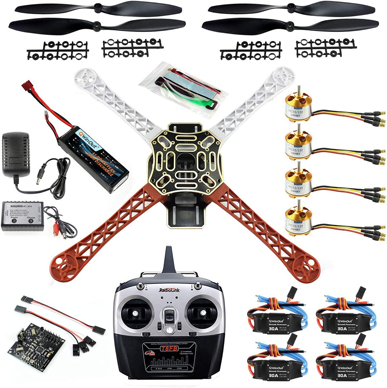 al precio mas bajo Qwinout Qwinout Qwinout DIY 8CH KK V2.3 F450 Frame RC Quadcopter 4-Axle UFO Unassembly Kit RTF ARF Basic Drone  buscando agente de ventas