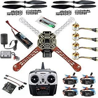 QWinOut DIY 2.4G 8CH KK V2.3 F450 Frame RC Quadcopter 4-Axle UFO Unassembly Kit RTF/ARF Drone (Basic Version)