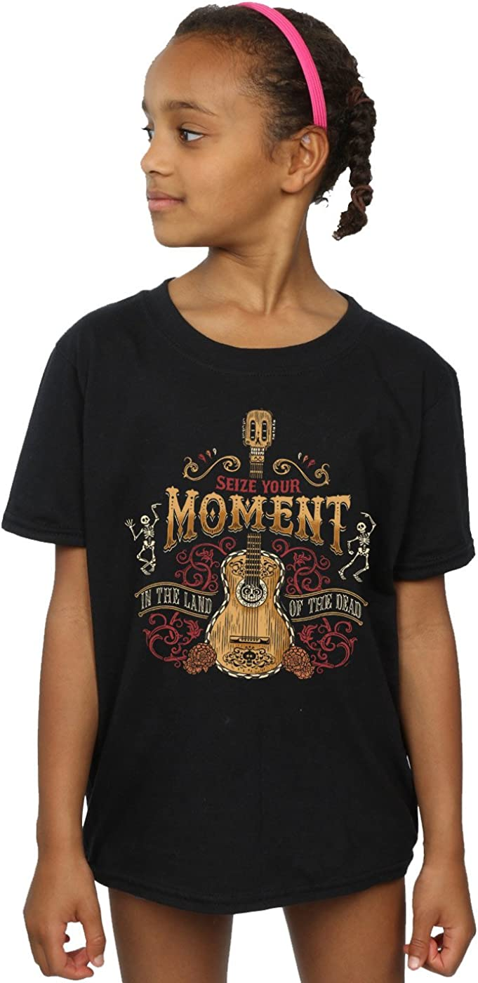 Disney Girls Coco Land of The Dead T-Shirt 7-8 Years Black