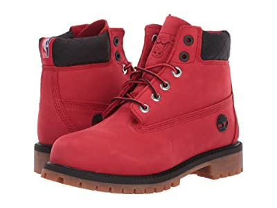 Timberland Kids 6 Premium Waterproof Boot Chicago Bulls (Little Kid) (Medium Red Nubuck) Kid