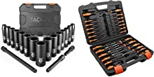 TACKLIFE 1/2 Drive Impact Socket Set and Magnetic Screwdriver Set