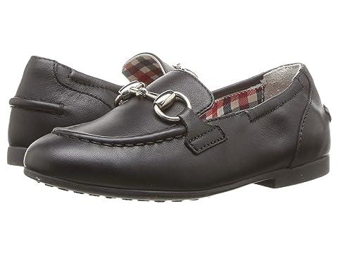 Gucci Kids Jordaan Leather Loafer (Toddler)