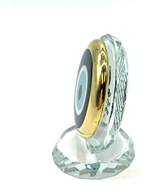 5410 Turkish Crystal Evil Eye Paperweight for Home Office or Gift