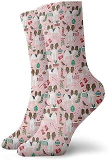 Sp Papillon - Calcetines de vestir para hombre, diseño navideño, color rosa