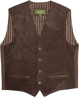 HIDEPARK 004: Men's Brown Leather Waistcoat
