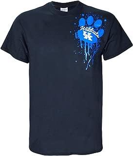University of Kentucky Wildcats UK Basketball Blue Paw UK Splat T Shirt Black