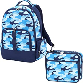 Reinforced Design Water Resistant Backpack and Lunch Sack Set (Personalized, Cool Camo)