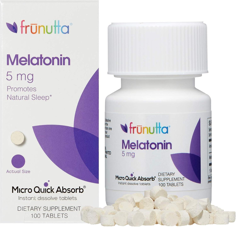 Melatonin 5mg Dissolvable Tablets by Frunutta Max 49% OFF The - Milwaukee Mall Tongue Under