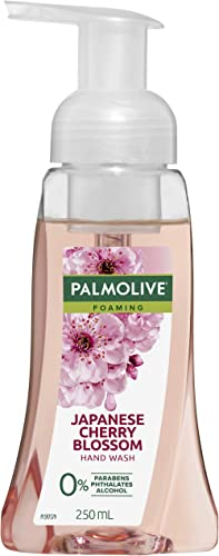 Palmolive Foaming Hand Wash Soap Japanese Cherry Blossom Pump 0% Parabens Recyclable, 250mL