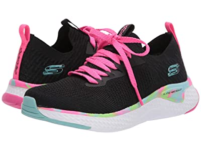 SKECHERS KIDS Sport Solar Fuse 302040L (Little Kid/Big Kid) (Black/Multi) Girls Shoes