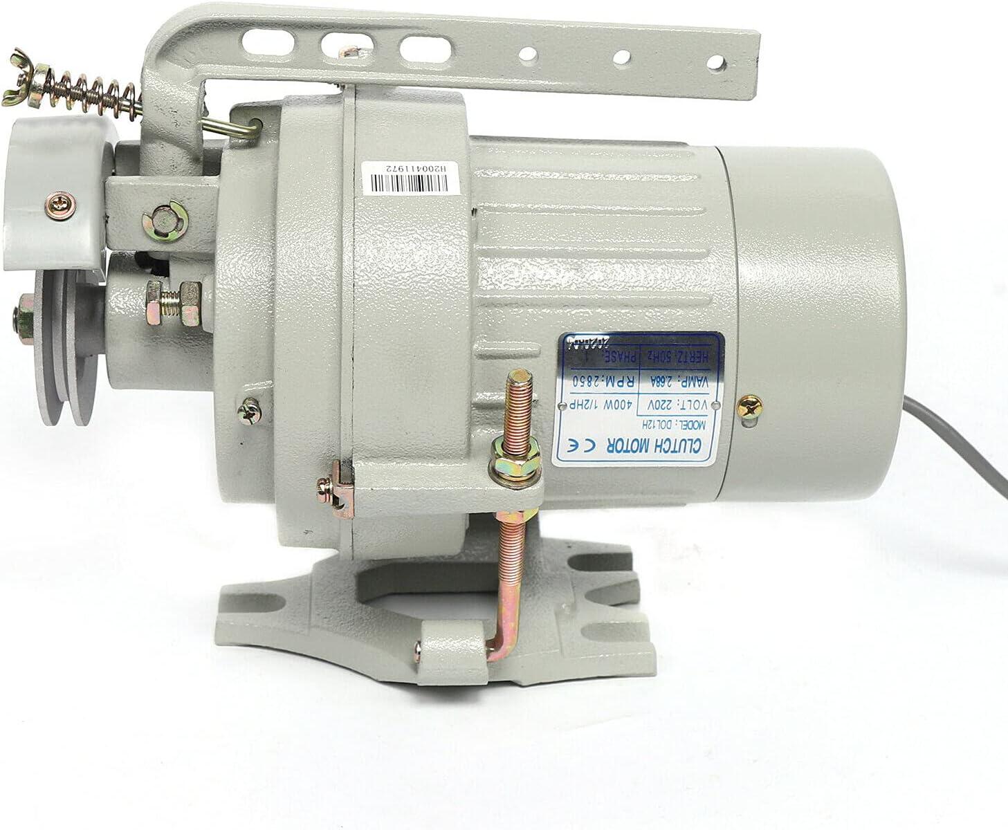 SHZICMY Motor para máquina de coser, 400 W, 220 V, 2850 rpm, 1/2 hp, monofásico, repuesto para máquina de coser