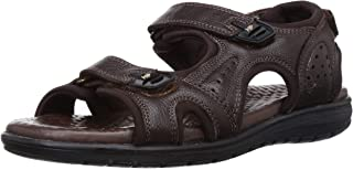 Hush Puppies Men's Charles Sporty Leather Outdoor Sandals
