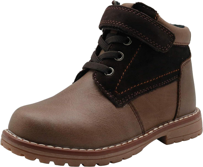 Apakowa Kids Ranking TOP3 Boys Autumn Leather Toddler Elegant Boots Kid Little