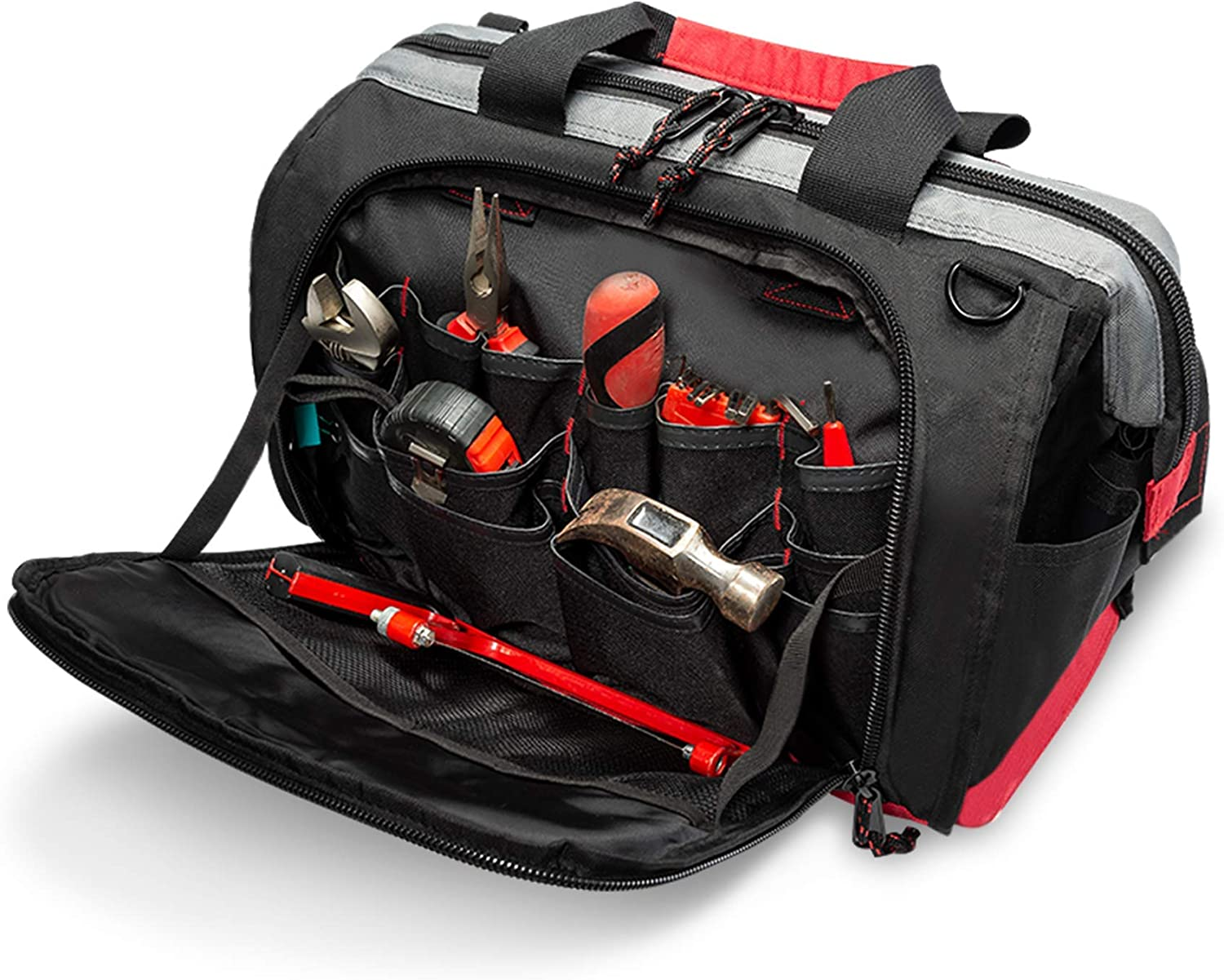 Pnochoo 16in 25 Pockets Wide Mouth Waterproof Tool Bag $25.49 Coupon