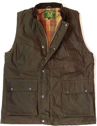 Royal Acropole Mens Wax Bodywarmers Padded Gilet Body Warmers Olive Farming Fishing Bodywarmer Country Wear Jacket Coat