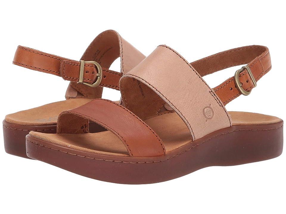 Born Oconee (Brown/Taupe Full Grain Leather Combo) Women
