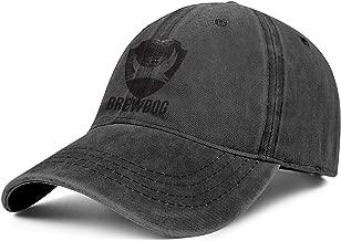 QWQD BrewDog Men Women's Washed Golf Hat Adjustable Snapback Travel Cap