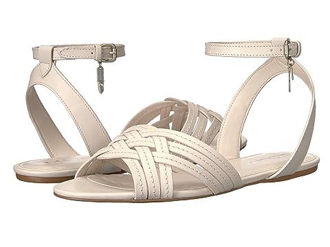 COACH 蔻驰 Caleigh 女士镂空真皮休闲凉鞋