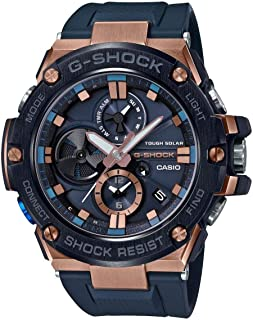 Men's Casio G-Shock G-Steel Black Resin Band Watch GSTB100G-2A