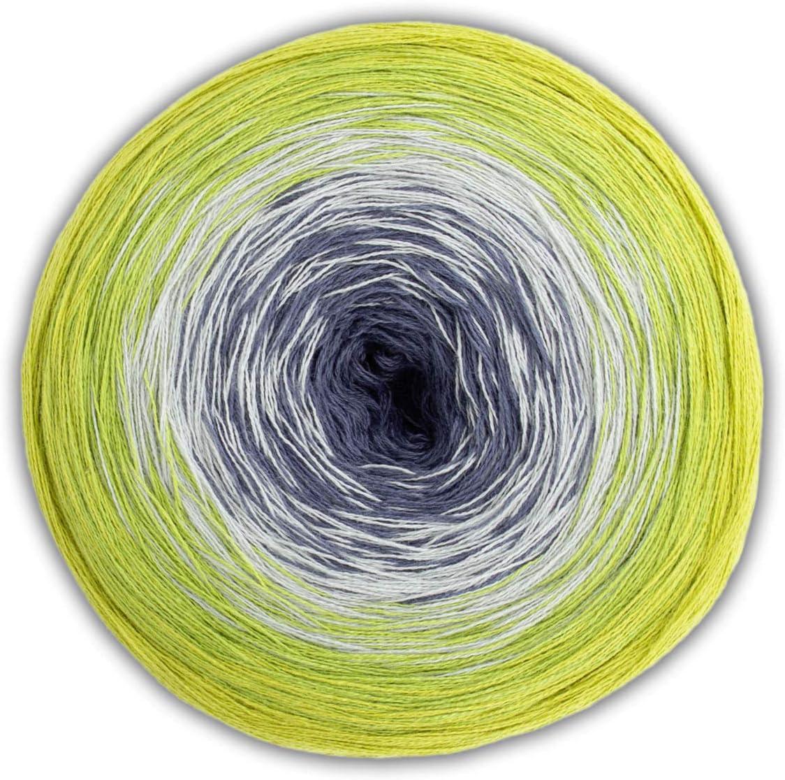 200g Bobbel avec Longue Degrad/é Woolly Hugs Bobbel Coton Couleur 23 Turquoise D/égrad/é de Couleur