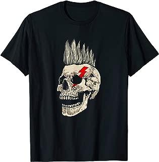 Punk Rock Skull With Mohawk Style Punk's Not Dead T-Shirt