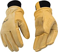 Kinco – Lined Premium Pigskin Leather Work and Ski Gloves with Nikwax Waterproof..