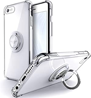Silverback - Funda transparente para iPhone 6S Plus con anillo de soporte, iPhone 6 Plus, funda protectora de TPU suave qu...