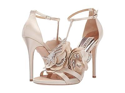 Badgley Mischka Lisa (Ivory Satin) High Heels