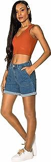 Crazy Age Hotpants szorty letnie z wysoką talią, szorty denim Basic