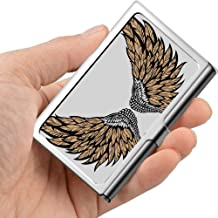 Professional Metal Business Card Angel Wings Isolated On White Holder Pocket Business Card Case Slim Business Card Carrier Business Card Holders Wa