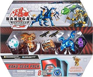 Bakugan Baku-Gear Pack mit 4 Armored Alliance Bakugan (Ultra Aurelus Dragonoid, Ultra..