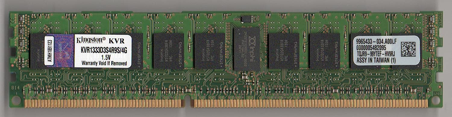 KINGSTON KVR1333D3S4R9S/4G DDR3 1333 PC3-10600R 4GB ECC REG Single Rank x4 (FOR SERVER ONLY)