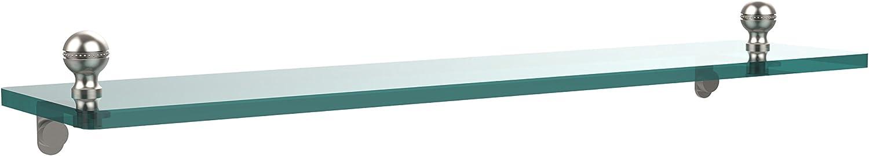 Allied Brass MA-1 22-SN 22 by 5-Inch Single Glass Shelf