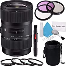 Sigma 18-35mm f/1.8 DC HSM Art Lens for Canon (International Model) + 72mm 3 Piece Filter Kit + Deluxe Cleaning Kit + 72mm Macro Close Up Kit + Deluxe Lens Pouch Bundle