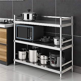 Cuisine étage étage Multicouche étagère de Rangement à Trois Couches d'assemblage ménage épaississement avec clôture Suppo...