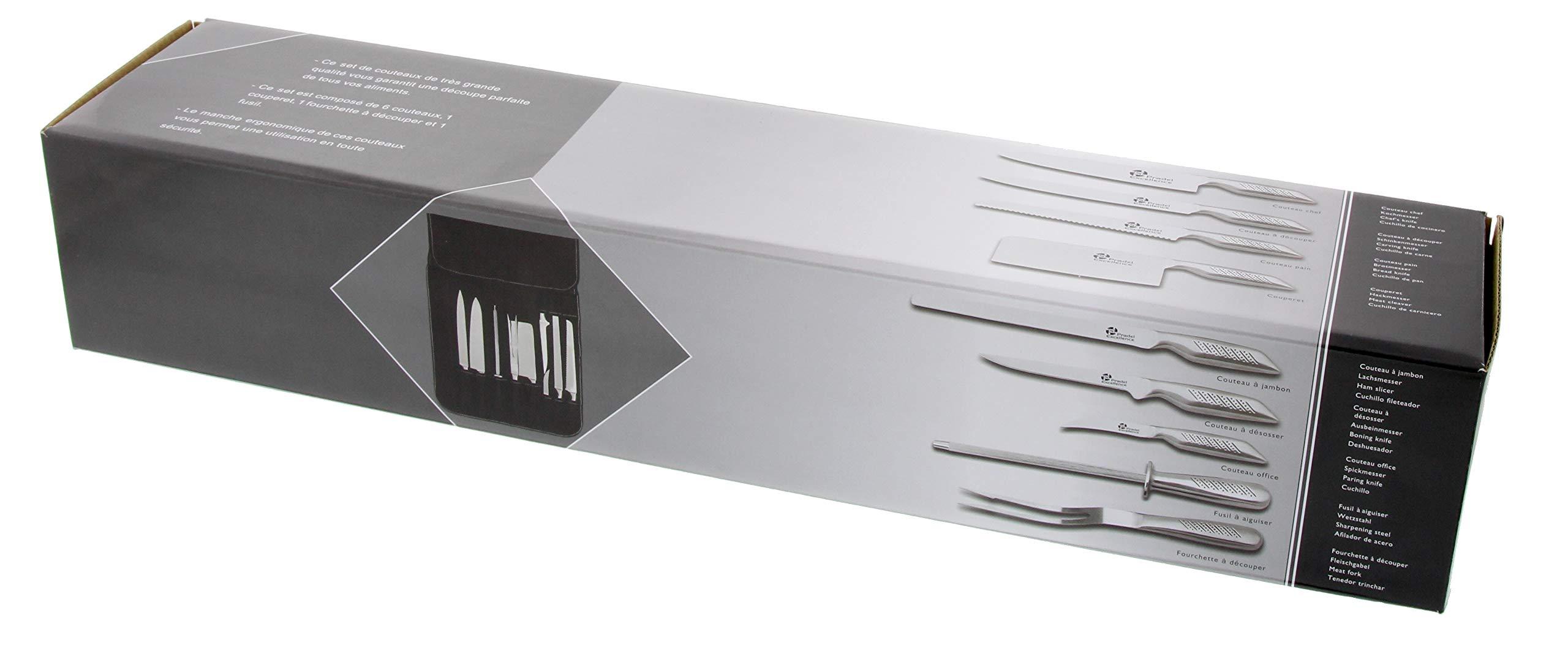 Compra Pradel Excellence - Estuche con Juego de Cuchillos de Cocina de Acero Inoxidable, 9 Piezas en Amazon.es