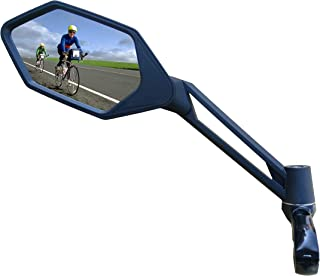 MEACHOW New Scratch Resistant Glass Lens,Handlebar Bike Mirror, Adjustable Safe Rearview Mirror, Bicycle Mirror,ME-005(2019)