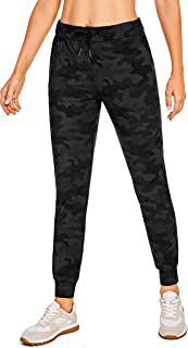 CRZ YOGA Women's Drawstring Sweatpants Joggers Pants Casual Stretch Travel Ankle Banded Pants with Pockets