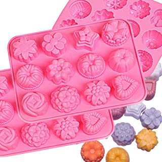 IHUIXINHE Food Grade Silicone, Non-Stick Ice Cube Mold, Jelly, Biscuits, Chocolate, Candy, Cupcake Baking Mould, Muffin pan