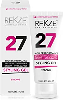 REKZE 27 Hair Styling Gel Strong, Breakthrough With Capixyl, Argan Oil, Caffeine, Keratin, Proline For Men & Women, Strengthens Hair, Reduces Breakage, Anti-Hair Loss & Support Hair Growth