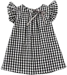 black and white checkered dress toddler