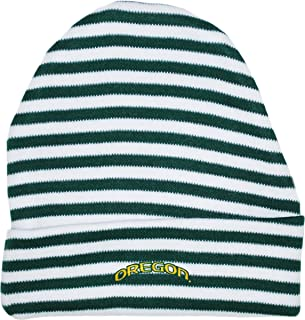 Oregon Ducks Arched Oregon Newborn Baby Striped Knit Cap