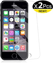 NEW'C Pellicola Protettiva in Vetro Temperato per iPhone 5, iPhone 5S, iPhone SE, iPhone 5C - Pacco da 2 Pezzi
