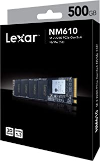 Lexar NM610 M.2 2280 NVMe SSD, 500GB Capacity