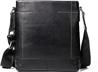Crossbody Bag Men's Shoulder Bag Genuine Leather 3L Diagonal Package Cowhide Business 7L Stationery Work Package Black Man Bag Leather Bag